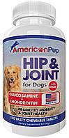 Глюкозамин и хондроитин с МСМ для собак American Pup Hip & Joint Supplement for Dogs, фото 1