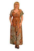 Платье из штапеля - Модель Л245 (48р) (ф) короткое (длина 90см)