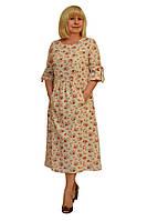 Платье лён 100% - Модель Л363-3