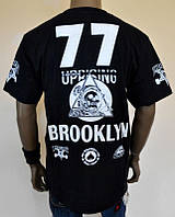 Футболка черная Thrasher brooklyn 77 logo, фото 1