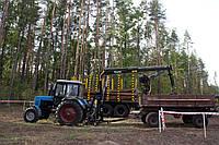 Кран-манипулятор на трактор