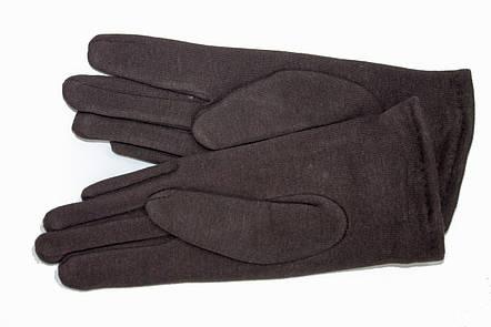 Женские стрейчевые перчатки Цветные Коричневые Средние, фото 2