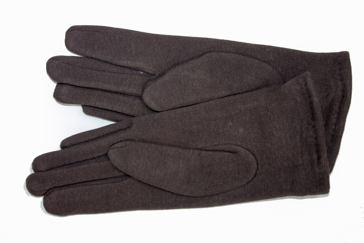 Женские стрейчевые перчатки Цветные Коричневые Средние