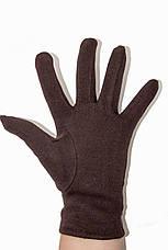 Женские стрейчевые перчатки Цветные Коричневые Средние, фото 3