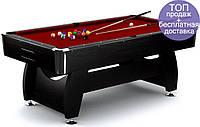 Бильярдный стол игровой, профессиональный VIP Extra 8FT black-red для дома с доставкой, Львов