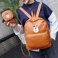 Городской рюкзак медведь с сумочкой, цвета в наличии, фото 1