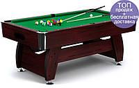 Бильярдный стол игровой, профессиональный VIP Extra 8FT cherry-green для дома с доставкой, Львов