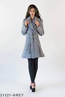 Жіноче класичне сіре пальто Charly