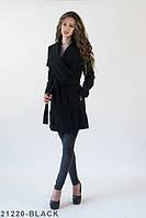 Жіноче стильне чорне пальто Charly