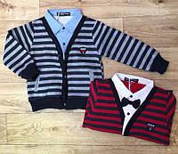 Кардиган с рубашкой обманкой для мальчиков Buddy Boy,1-5 лет .