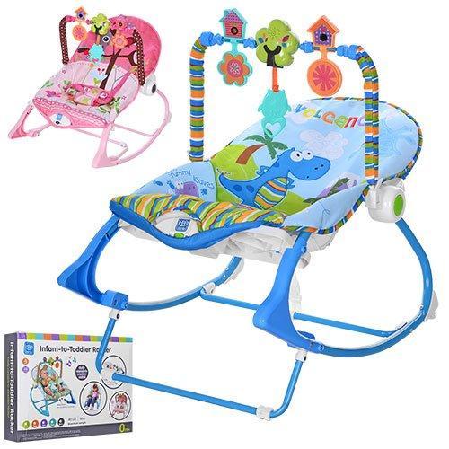 Шезлонг-качалка детский с музыкой и вибро 63562
