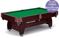 Бильярдный стол игровой, профессиональный VIP Extra 8FT cherry green с сетками, Львов