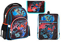 """Комплект. Рюкзак школьный Transformers TF17-513S + пенал + сумка, ТМ """"Kite"""""""