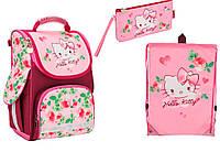 "Комплект. Рюкзак школьный каркасный ""трансформер"" Hello Kitty HK17-500S + пенал + сумка, ТМ ""Kite"""