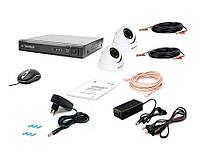 Комплект проводной системы видеонаблюдения Tecsar AHD 2IN-3M DOME, фото 1
