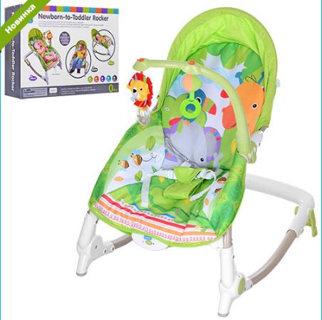 Шезлонг-качалка детский с музыкой и вибро 63561