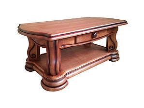 """Большой деревянный журнальный столик """"Grizly"""" (Гризли). (135 см)"""
