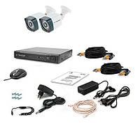 Комплект проводной системы видеонаблюдения Комплект видеонаблюдения Tecsar AHD 2OUT-3M LIGHT, фото 1