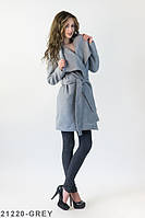 Жіноче стильне сіре пальто Charly