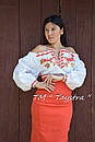 Блузка бохо вышиванка, белая, лен, этно стиль, Bohemia, фото 2