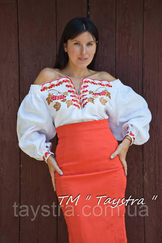 Блузка бохо вышиванка, белая, лен, этно стиль, Bohemia