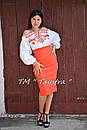 Блузка бохо вышиванка, белая, лен, этно стиль, Bohemia, фото 4