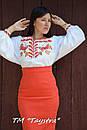 Блузка бохо вышиванка, белая, лен, этно стиль, Bohemia, фото 5