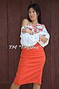 Блузка бохо вышиванка, белая, лен, этно стиль, Bohemia, фото 8