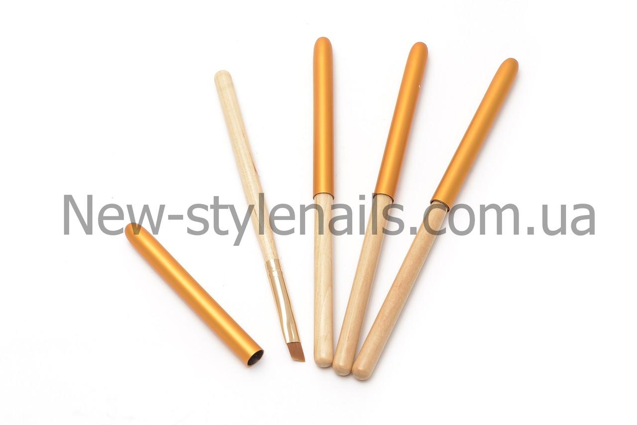 Кисти для геля №6, деревянная ручка