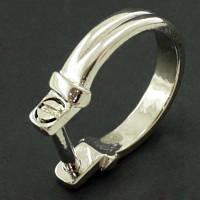 Основа для кольца металлическая, Для Бусин Пандора, Цвет: Платина, Размер: Длина 22мм, Ширина 20мм, Толщина 1.5мм, (УТ000000709)
