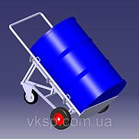 Тележка для перевозки бочек 200л. с черевой