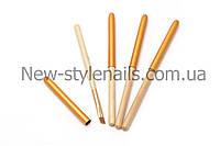 Кисти для геля №10, деревянная ручка, фото 1