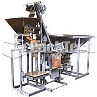 Линия полуавтоматической фасовки и упаковки пеллет в мешки по 15,20,25 кг