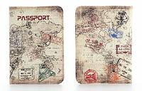 Кожаная обложка на паспорт Путешествие