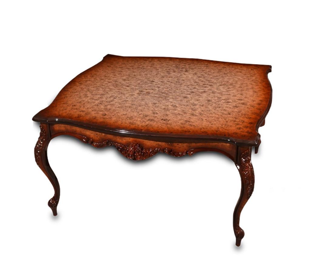 Изящный деревянный столик - № 3. (100х100х55 см)