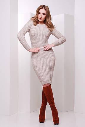 В'язане плаття кольору капучіно розмір універсальний 42-46, фото 2