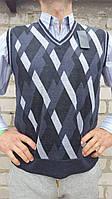 Жилетка мужская серый, XL