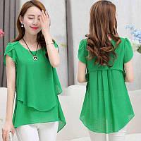 Туника зеленая  шифоновая нарядная Tian+Suni