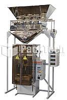 Автомат для фасовки и упаковки сыпучих продуктов в пакет подушка