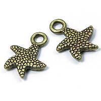 Кулон Морская Звезда, Металл, Цвет: Бронза, Размер: 16.5x12.5x2.5мм, Отверстие 1.5мм, (УТ100008155)
