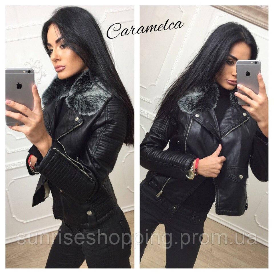 кожаные черные куртки женские фото