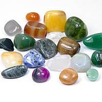 Бусины Натуральный и Синтетический Камень, Микс, Цвет: Микс, Размер: 17~20x14~20x10~20мм, Без Отверстия, (УТ100008246)