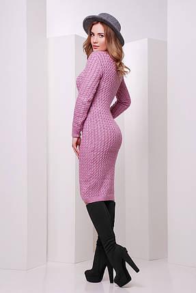 Плаття в'язане бузкового кольору розмір 42-46 єдиний, фото 2