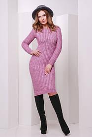 Платье вязаное сиреневого цвета размер 42-46 единый