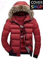 Зимняя куртка Winter Style, цвет - бордовый, материал-полиестер, утеплитель - хлопок+синтепон