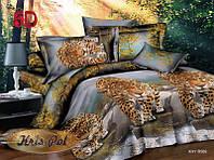 """Постельное 2х-спальный Евро размер """"На охоте""""."""