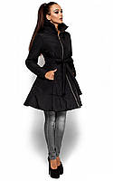 Жіноча приталена чорна куртка Siena