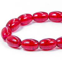 """Бусины """"Битое Стекло"""" Овальные, Цвет: Красный A31, Размер: 11х8мм, Отверстие 1.5мм, около 70шт/нить, (УТ100008554)"""