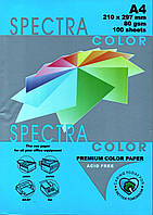 """Бумага офисная цветная """"Spectra color Turquoise"""" 100 л. А4, 80 г/м2"""