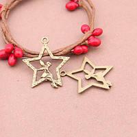 Кулон Звезда, Металл, Цвет: Бронза, Размер: 28x25мм, (УТ100008739)